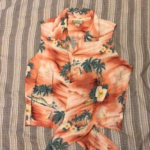 Tie front Hawaiian shirt